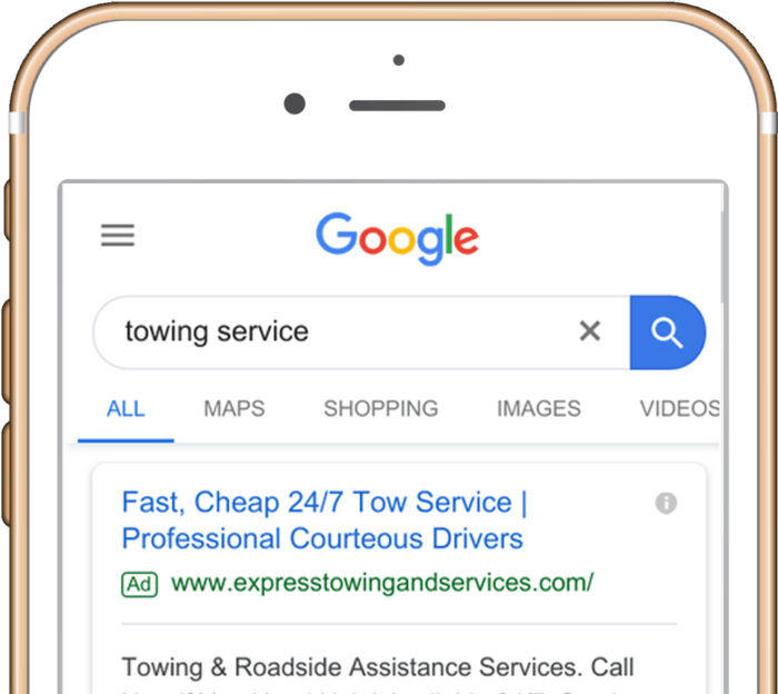 iphone 6s google towing service results